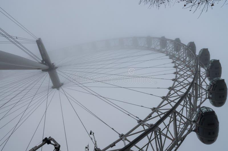 Mistige dag in Londen stock foto
