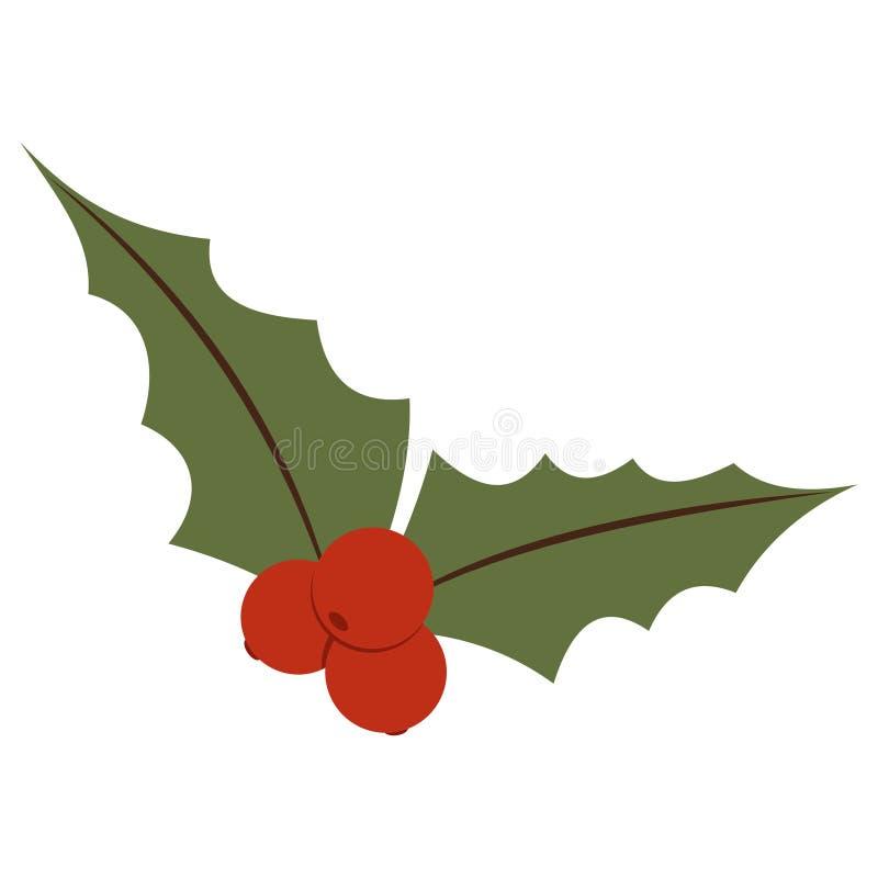 Mistletoe vector flat icon isolated on a white background. royalty free stock image