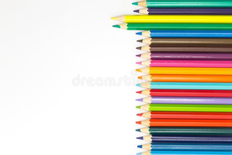 Misto della matita multipla di colore immagini stock libere da diritti