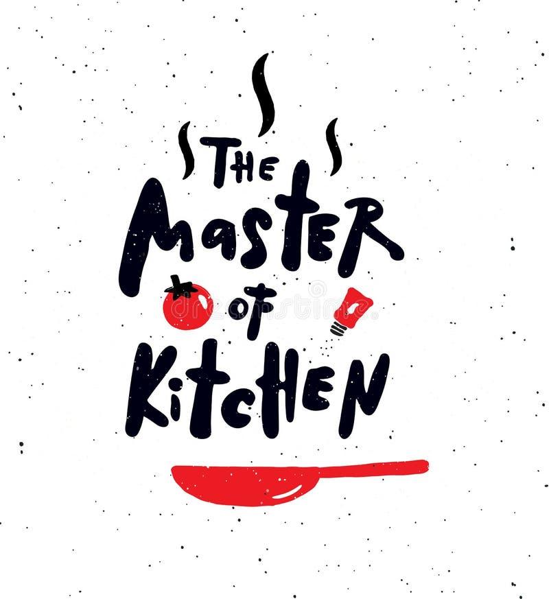 Mistrz kuchnia ilustracji