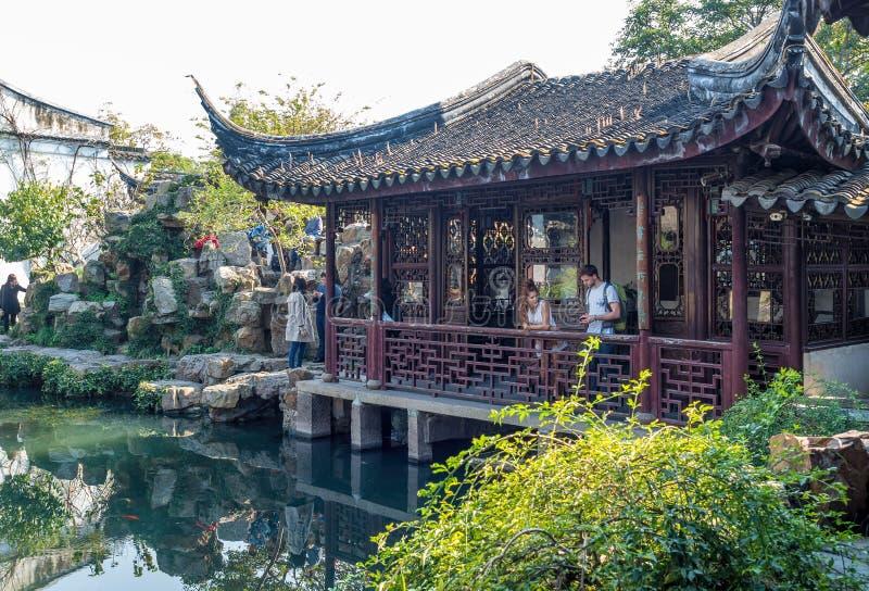 Mistrz sieci Ogrodowy Wang Shi Juan, Suzhou, Chiny obrazy royalty free