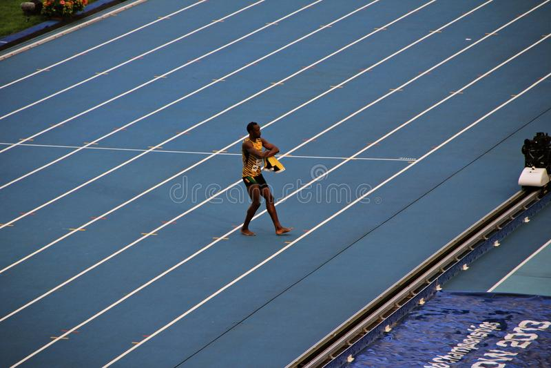 Mistrza Usain St Leo rygla taniec na karuzeli zdjęcie royalty free