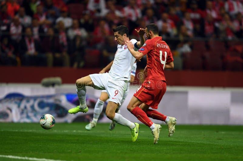 Mistrzostwa Europy w Piłce Nożnej Polski - Macedonia fotografia stock