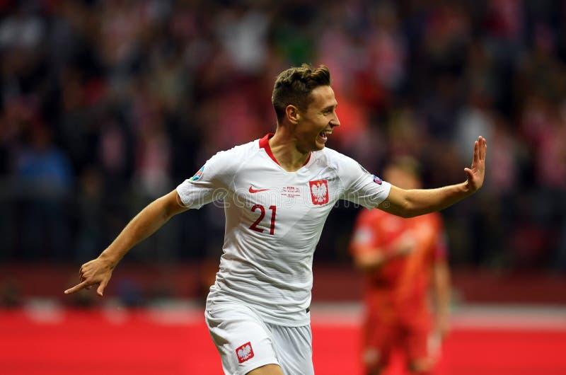 Mistrzostwa Europy w Piłce Nożnej Polski - Macedonia zdjęcia stock