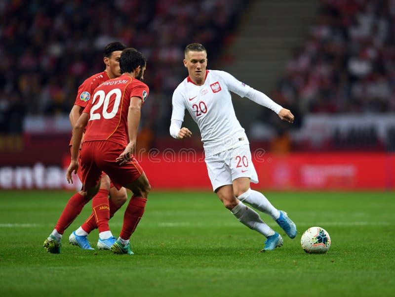 Mistrzostwa Europy w Piłce Nożnej Polski - Macedonia obraz royalty free