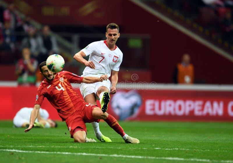 Mistrzostwa Europy w Piłce Nożnej Polski - Macedonia zdjęcie stock