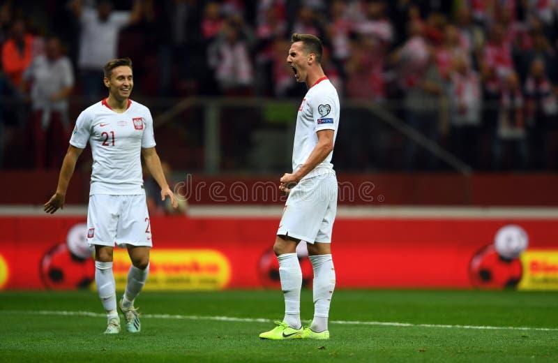 Mistrzostwa Europy w Piłce Nożnej Polski - Macedonia obraz stock