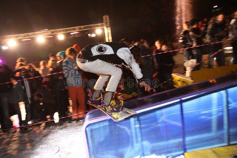 mistrzostwa jazda na snowboardzie ukrainian zdjęcie stock