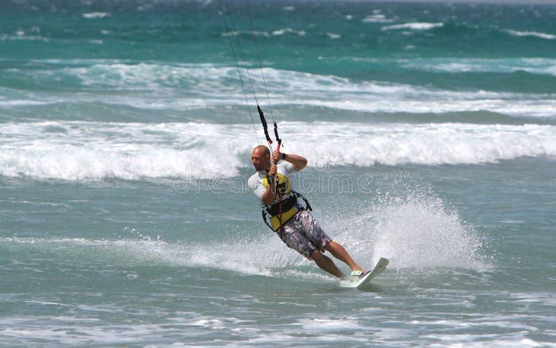mistrzostwa kitesurf kitesurfer Spain obrazy stock