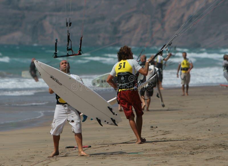 mistrzostwa kitesurfer k Spain fotografia stock