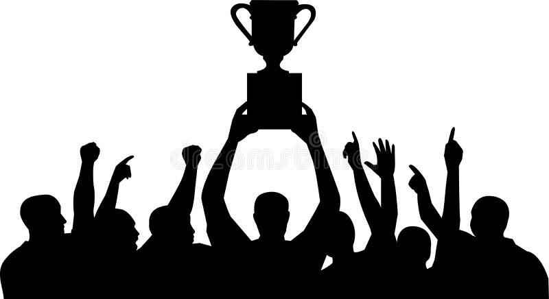 mistrzostwa zespół świętowania ilustracji
