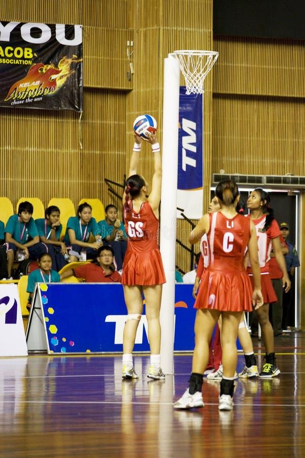 mistrzostwo akci azjatykci mistrzostwa netball fotografia royalty free