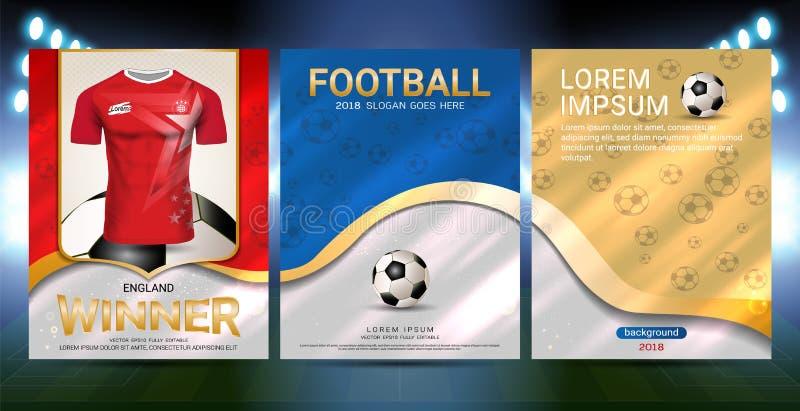 Mistrzowie są zwycięzcy pojęciem, sporta plakata szablon royalty ilustracja