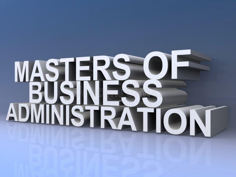Mistrzowie zarządzanie przedsiębiorstwem ilustracja wektor
