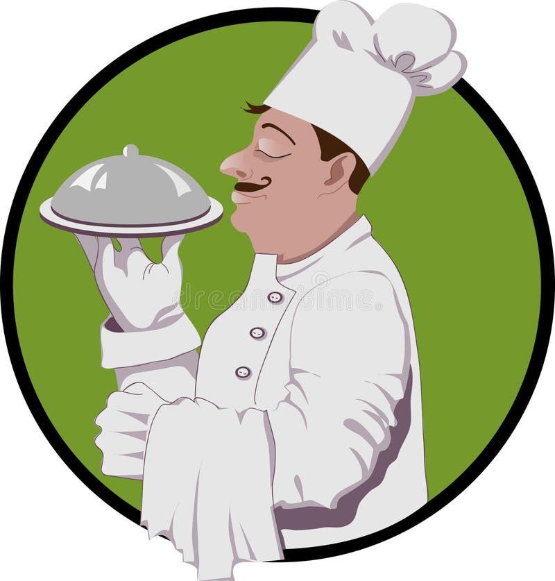 Mistrzowski szef kuchni royalty ilustracja