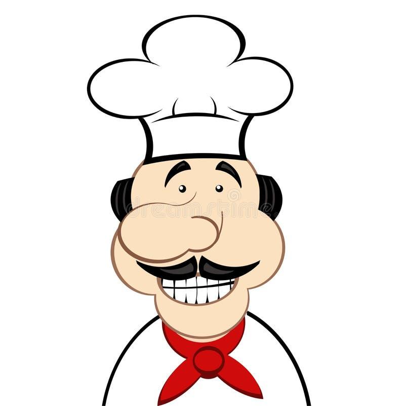 Mistrzowski szef kuchni szef gotować - mistrz - szef - ilustracja wektor