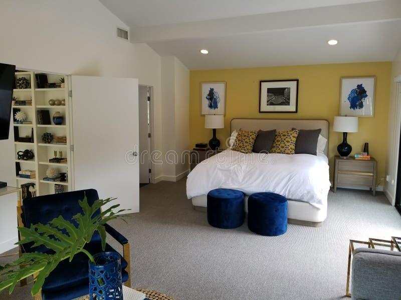 Mistrzowskiej sypialni Hollywood wzgórza obrazy stock