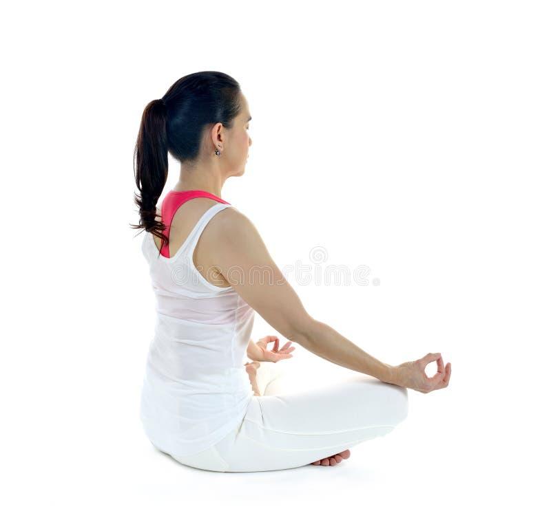 Download Mistrzu jogi kobiety zdjęcie stock. Obraz złożonej z cisza - 57660982