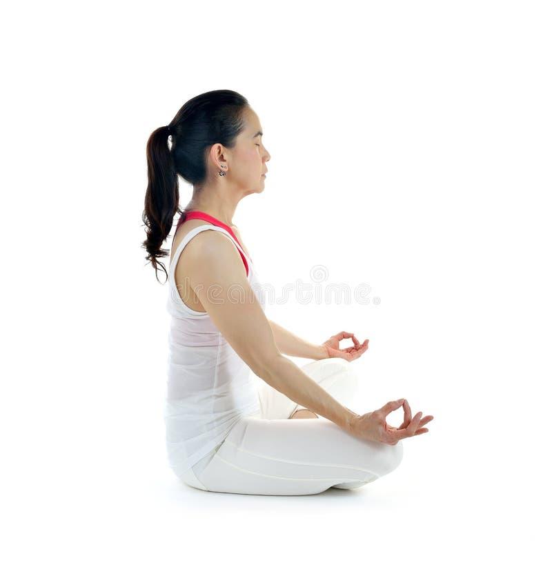Download Mistrzu jogi kobiety obraz stock. Obraz złożonej z salowy - 57661011