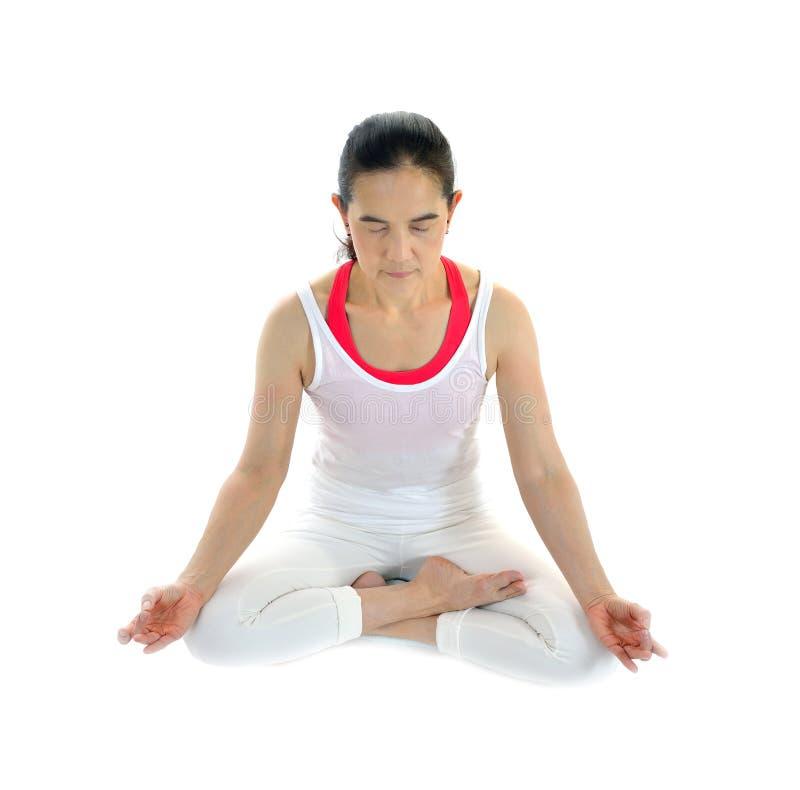 Download Mistrzu jogi kobiety zdjęcie stock. Obraz złożonej z duchowość - 57661048