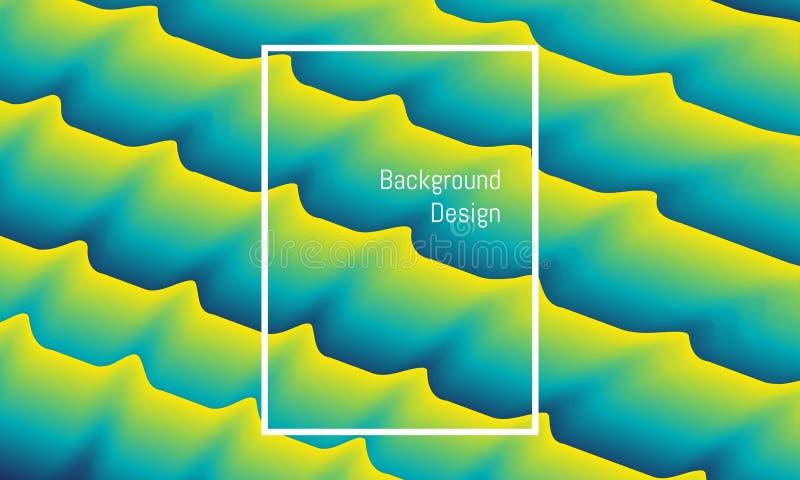 Mistura abstrata do retângulo como o parafuso que acena projeto bonito colorido do fundo ilustra??o eps10 ilustração royalty free