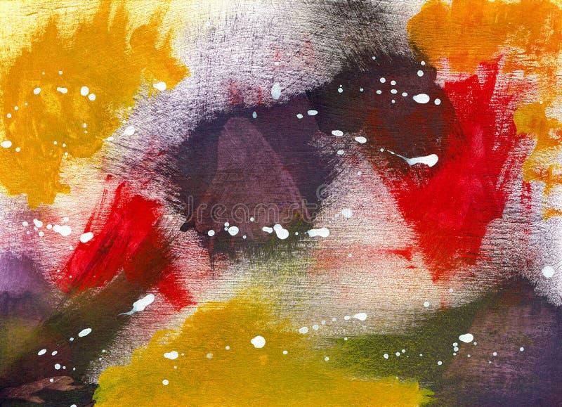 Mistura abstrata - pintura acrílica ilustração royalty free