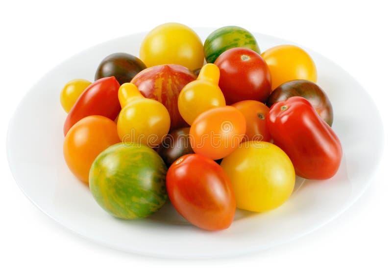 Mistura colorida de tomates diferentes imagens de stock royalty free