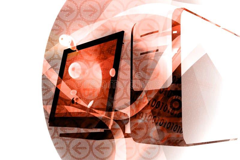 Mistura da informática - vermelho ilustração stock