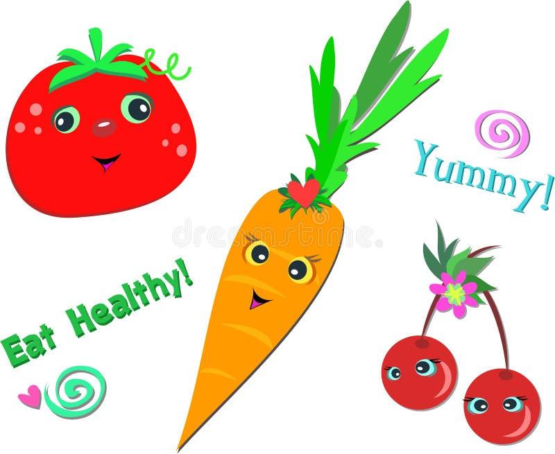 Mistura de alimentos saudáveis ilustração royalty free