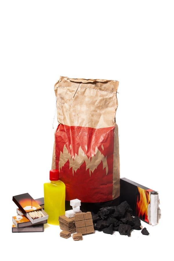 Mistura de elementos do firestarter do assado foto de stock royalty free