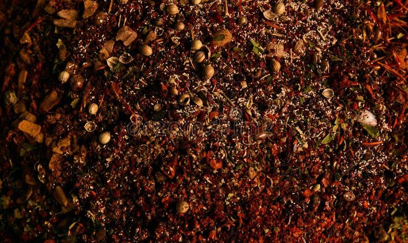 Mistura de ervas e de especiarias indianas imagem de stock