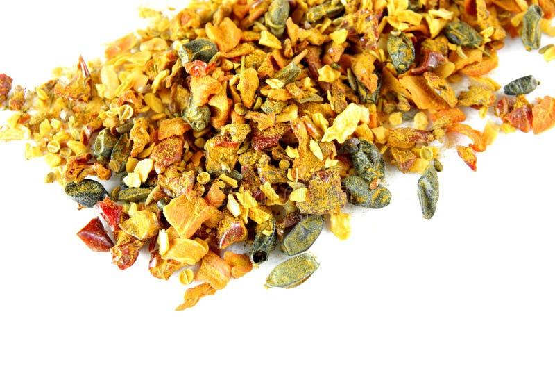 Mistura De Especiarias Isoladas Imagem de Stock Royalty Free