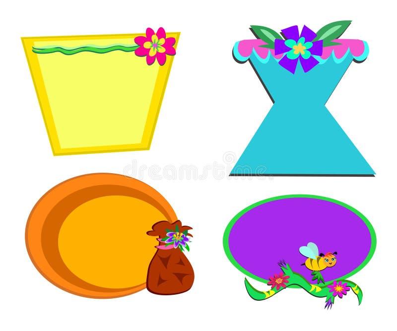 Mistura de frames lunáticos ilustração stock
