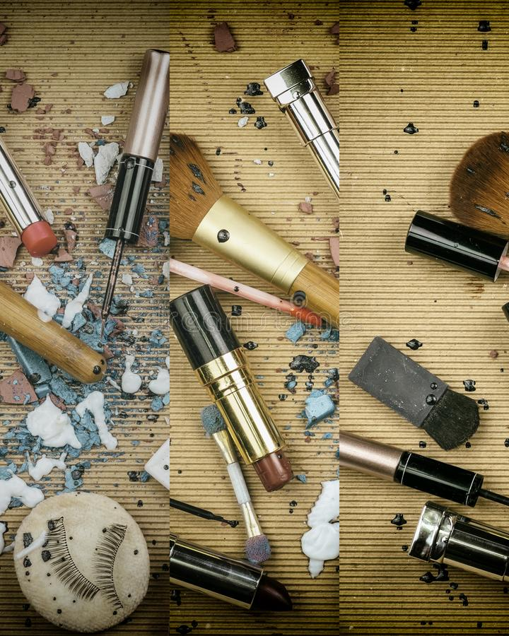 Mistura de produtos de beleza imagens de stock royalty free