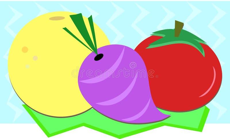 Mistura de toranja, de nabo, e de tomate ilustração royalty free