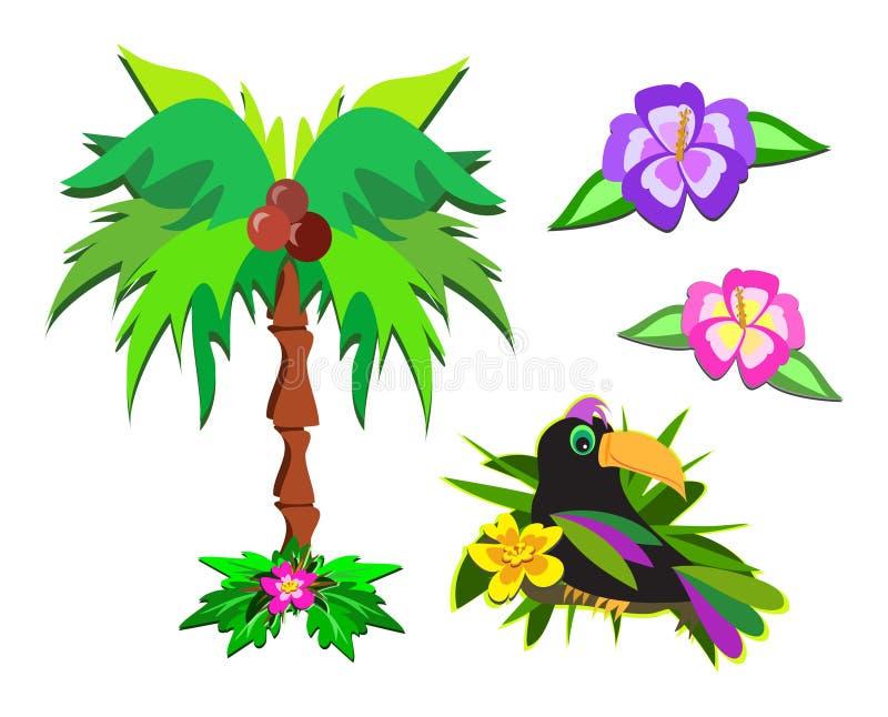 Mistura de vida tropical ilustração do vetor