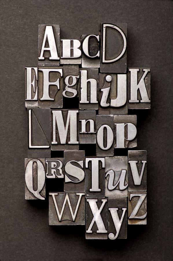 Mistura do alfabeto foto de stock