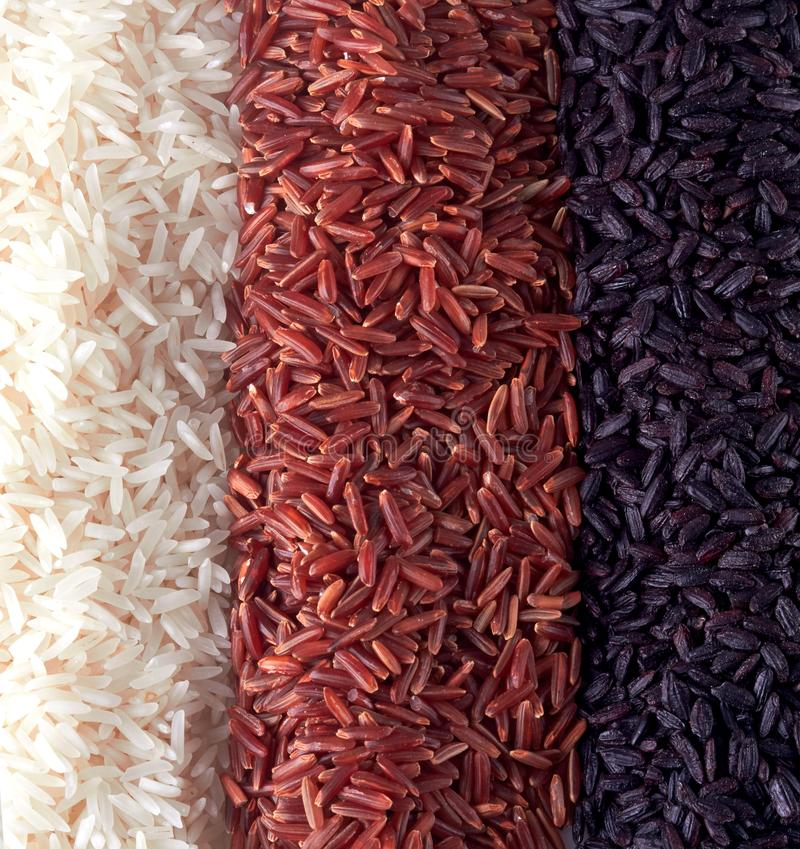 Mistura do arroz do close up fotografia de stock royalty free