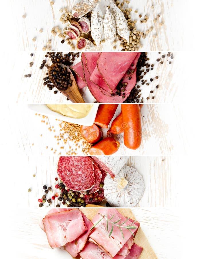 Mistura do presunto e do salame foto de stock royalty free