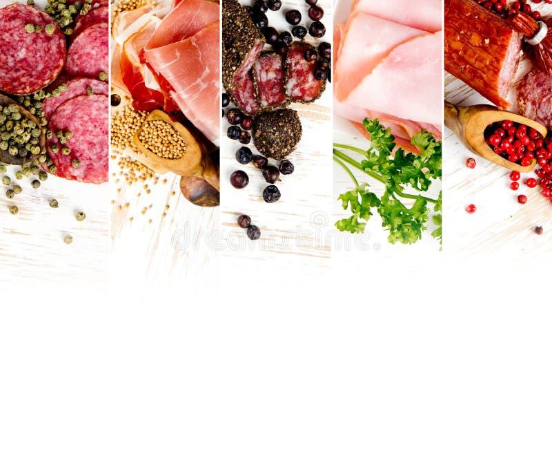 Mistura do presunto e do salame fotos de stock royalty free