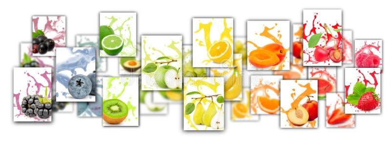 Mistura do respingo do fruto fotos de stock royalty free
