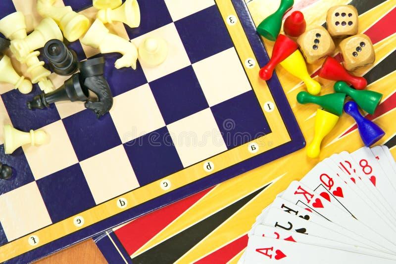 Mistura dos jogos de tabela foto de stock