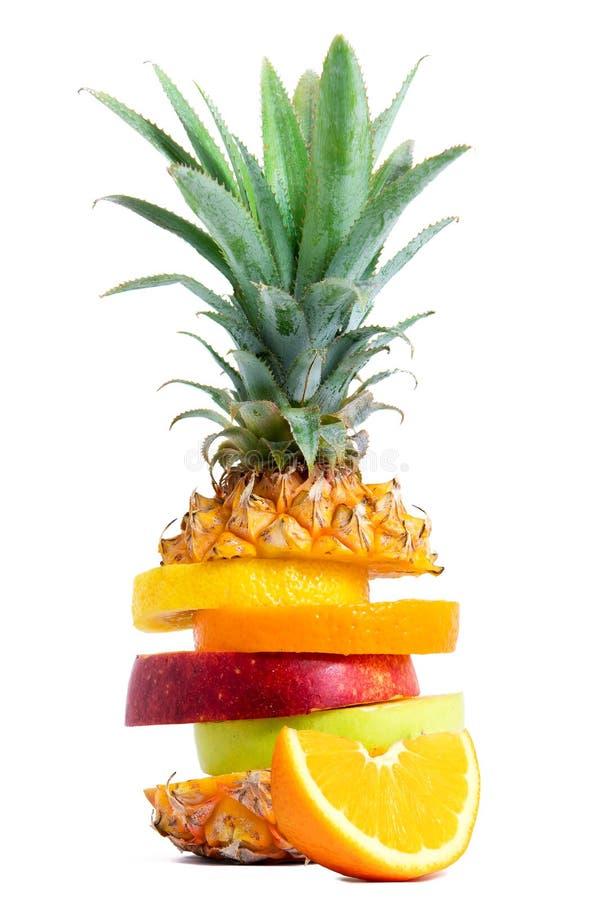 Mistura fresca do fruto tropical foto de stock royalty free