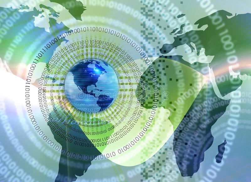 Mistura global da tecnologia ilustração stock