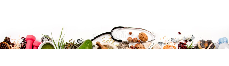 Mistura saudável do alimento e da dieta fotografia de stock