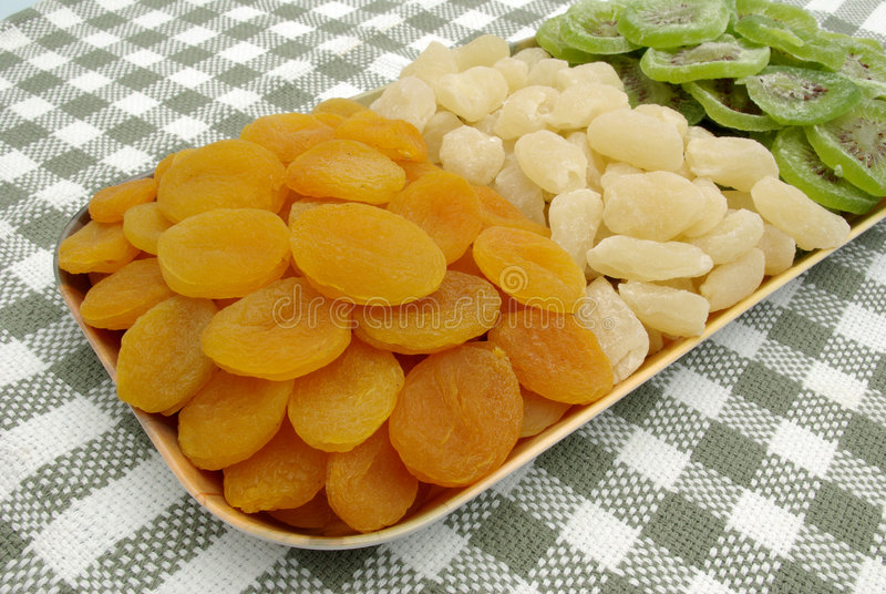 Mistura secada das frutas fotos de stock royalty free
