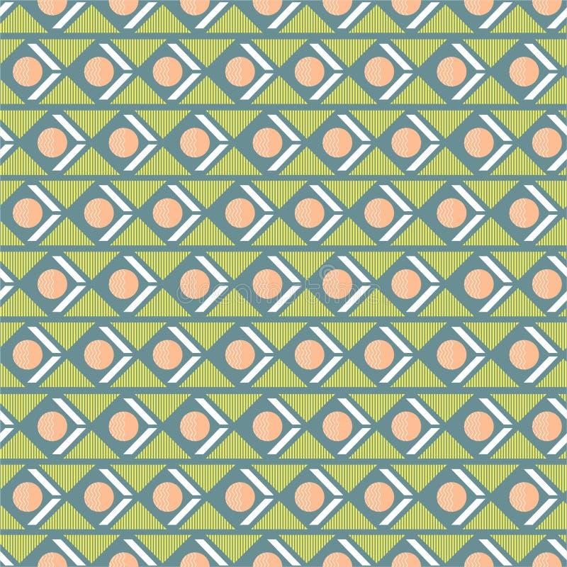 Mistura sem emenda geométrica doce e pastel com a listra do triângulo do círculo no projeto retro horizontal do humor para a form ilustração royalty free