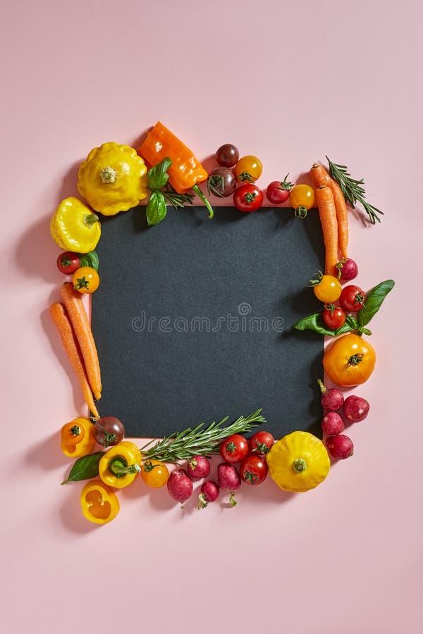 Mistura vegetal com um espaço da cópia fotos de stock royalty free