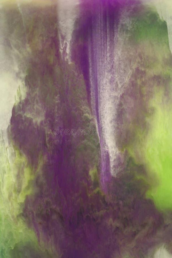 Mistura verde e violeta imagens de stock