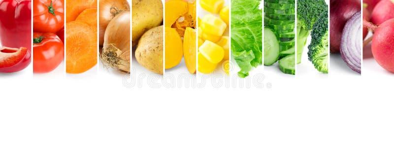 Misturado de vegetais da cor Colagem de vegetais maduros frescos imagem de stock royalty free